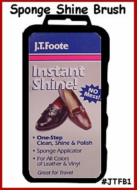 about (6) Six - SHOE SHINE SPONGE for POLISHING Mens or ladys Shoes