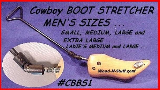 Pro Medium Western COWBOY BOOTS STRETCHER Free Spray Stretch Bomb made in USA